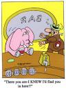 Cartoon: pink elephant (small) by daveparker tagged pink,elephant,bar,drunk,