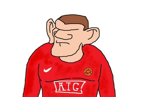 Wayne Rooney Cartoon wayne rooney By jack cardew Famous People Cartoon TOONPOOL