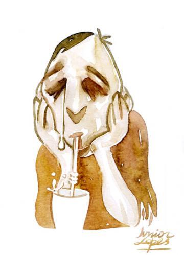 Cartoon: Tears 4 fears (medium) by juniorlopes tagged cartoon,illustration,trauer,melancholie,nachweinen,getränk,trennung,liebe,sehnsucht,weinen,träne,angst,furcht,phobie,depression,lähmung,motivationslos,antrieb,bereuen,fehler,reue,nachdenken