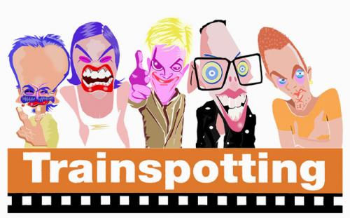 Cartoon: Trainspotting (medium) by juniorlopes tagged movie,,trainspotting,england,drogen,film,kino,hommage,portrait,karikatur,illustration,danny boyle,ewan mcgregor