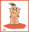 Cartoon: Cristiano Ronaldo (small) by juniorlopes tagged world,cup,2010