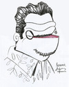 Cartoon: Luiz Guzman (small) by juniorlopes tagged luiz,guzman,actor