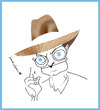Cartoon: Truman Capote (small) by juniorlopes tagged caricature,capote