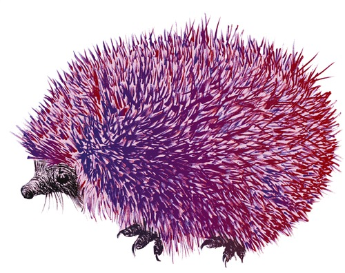 Cartoon: Acidulous hedgehog (medium) by LeeFelo tagged special,different,acid,purple,pink,hedgehog,acidulous