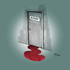 Cartoon: Doctor Acula (small) by LeeFelo tagged doctor,acula,dracula,blood,spill,door,vampire