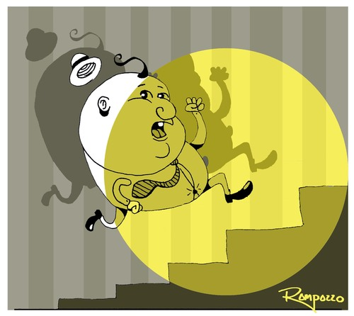 Cartoon: Fugitive (medium) by Marcelo Rampazzo tagged fugitive