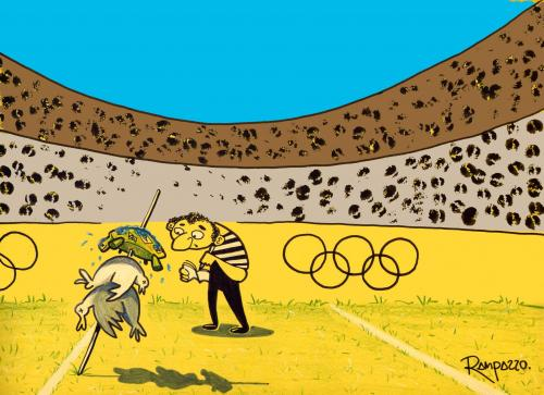 Cartoon: Olimpic games (medium) by Marcelo Rampazzo tagged olimpic,games,,olympische,spiele,olympia,sport,sportler,stadion,leichtathletik,athleten,speerwurf,speer,aufspießen,spieß,tiere,punkte,olympische spiele
