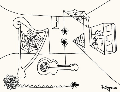 Cartoon: Spider 2 (medium) by Marcelo Rampazzo tagged spider