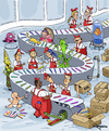 Cartoon: Crazy Scene (small) by Marcelo Rampazzo tagged faber,castell,painting,pencil,color,draw