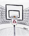 Cartoon: Decisive moment (small) by Marcelo Rampazzo tagged decisive moment recicle basket garbage
