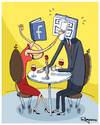 Cartoon: Facebook (small) by Marcelo Rampazzo tagged facebook,love,relationship,cuple
