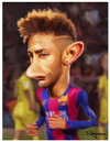 Cartoon: Neymar (small) by Marcelo Rampazzo tagged neymar,soccer,player,barcelona