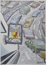 Cartoon: Traffic (small) by Marcelo Rampazzo tagged traffic,cars