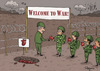 Cartoon: War (small) by Marcelo Rampazzo tagged war,soul,human,bean,heart,death