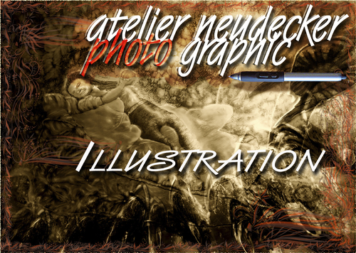 Cartoon: Atelier Neudecker  Logo (medium) by neudecker tagged logo,illustration,atelier