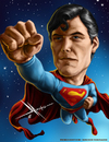 Cartoon: Christopher Reeve (small) by Mecho tagged superman,christopher,reeve