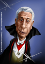 Cartoon: Leslie Nielsen (small) by Mecho tagged dracula,leslie,nielsen
