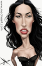 Cartoon: Megan Fox (small) by Mecho tagged megan,fox,caricature,caricatures