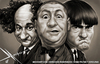 Cartoon: The Three Stooges (small) by Mecho tagged los,tres,chiflados,the,three,stooges,caricatures,caricature,tv