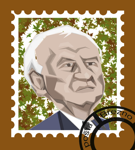 Cartoon: stamp (medium) by ivo tagged wow