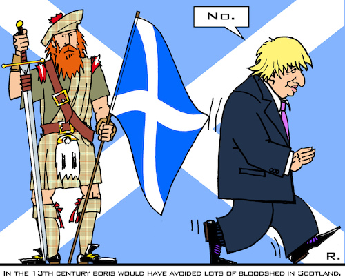 Scottish Independence By RachelGold | Politics Cartoon | TOONPOOL