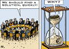 Cartoon: Euro Crisis Summit (small) by RachelGold tagged european,union,summit,2011,eurocrisis,hourglass,brussels