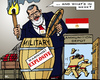 Cartoon: Explosive Clean Up (small) by RachelGold tagged egypt,mursi,military,chiefs