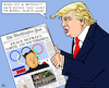 Cartoon: Olympic Peace (small) by RachelGold tagged korea,northern,southern,usa,olympic,games,trump,washington,post,peace,war,atomic,plans