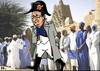 Cartoon: The Liberator (small) by RachelGold tagged france,francoise,hollande,mali,tibuktu,war,napoleon