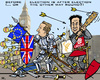 Cartoon: UK Election Battle (small) by RachelGold tagged uk,election,parties,tories,labour,liberals,ukip,cameron,miliband