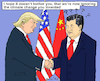 Cartoon: Diplomacy (small) by MarkusSzy tagged usa,china,trump,xi,diplomacy,climatechange