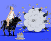 Cartoon: EU Birthday Party (small) by MarkusSzy tagged eu,60,years,anniversary,rome,europe,bull,birthdaycake,fight,cloud