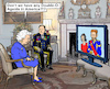 Cartoon: Harry and Meghan TV-Show (small) by MarkusSzy tagged uk,gb,england,royals,queen,elizabeth,harry,meghan,us,tv,ophra,show,interview,scandal
