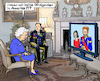 Cartoon: Harry und Meghan TV-Show (small) by MarkusSzy tagged uk,gb,england,royals,queen,elizabeth,harry,meghan,us,tv,ophra,show,interview,skandal