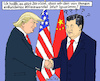 Cartoon: Neues diplomatisches Niveau (small) by MarkusSzy tagged usa,china,trump,xi,diplomatie,klimawechsel
