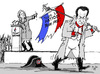 Cartoon: No support from ultra-right (small) by MarkusSzy tagged france,election,sarkozy,le,pen,recommentation,napoleon