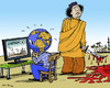 Cartoon: Out of Focus (small) by MarkusSzy tagged gaddafi libya japan fukoshima march2011 world focus