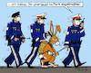 Cartoon: Polizeistaat? (small) by MarkusSzy tagged polizei,polizeistaat,ausgangssperre,zwangsmaßnahmen,ostern,osterhase