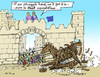 Cartoon: Trojan Wreck (small) by MarkusSzy tagged european,union,greece,history,troy,trojanhorse,economy,crisis
