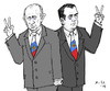 Cartoon: Victory (small) by MarkusSzy tagged putin,medwedew,party,russia,united,election,russian,parliament