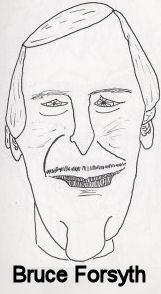 Cartoon: Caricature - Bruce Forsyth (medium) by chriswannell tagged cartoon,caricature,bruce,forsyth