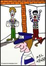 Cartoon: Mime Prison (small) by chriswannell tagged mime,prison,gag,cartoon