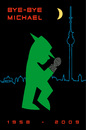 Cartoon: bye bye Michael (small) by Thomas Bühler tagged ampelmännchen,michael,jackson,musik,shocw,pop
