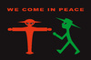 Cartoon: We come in peace (small) by Thomas Bühler tagged ampelmännchen aliens weltraum außerirdische
