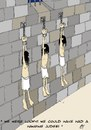 Cartoon: The Prisoners (small) by aarbee tagged prisoners,jail