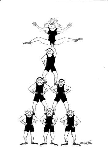 Circus acrobat cartoon - photo#12