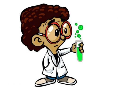 Cartoon Little Scientist Medium Chandanitis Tagged