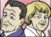 Cartoon: Nicolas e Angela (small) by basfardo tagged nicolas,angela,sarkozy,merkel