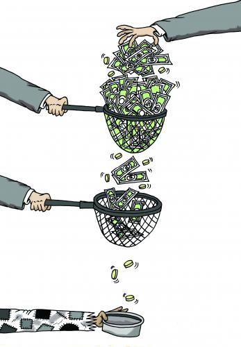 Cartoon: ... (medium) by Nayer tagged poverty,money,goverment