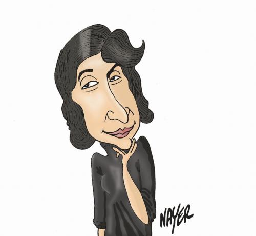 Cartoon: Hortensia Papadat Bengescu (medium) by Nayer tagged romania
